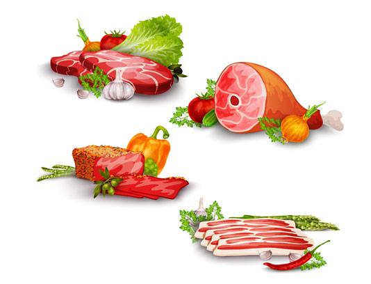 وکتور گوشت قرمز گوسفندی