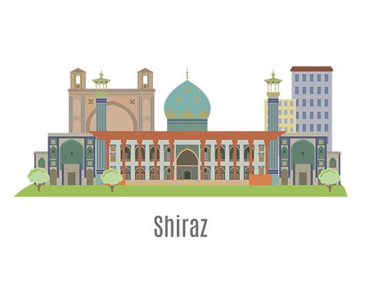 وکتور شیراز با فرمت AI