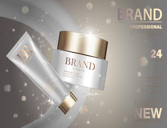 وکتور تبلیغاتی محصولات مراقبت پوستی