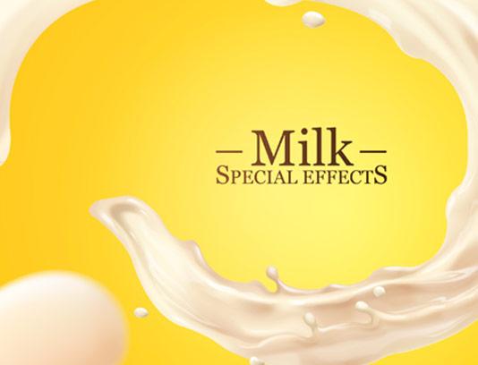 وکتور اسپلش شیر با کیفیت عالی