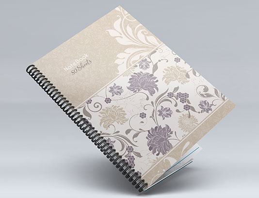 جلد دفتر گلدار لایه باز