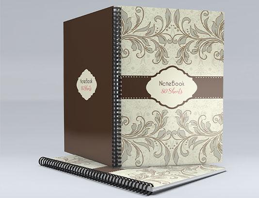 جلد دفتر گل و بته های قدیمی