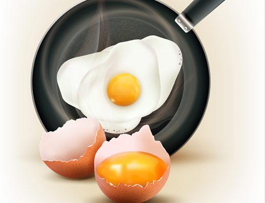 وکتور تخم مرغ شکسته