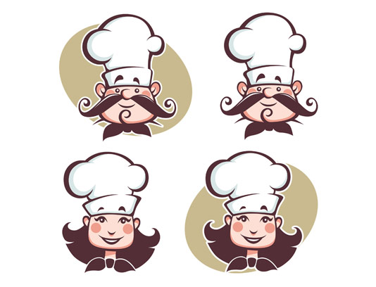 وکتور کاراکتر سرآشپز مرد و زن