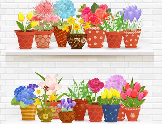 وکتور گلدان های تزیینی با کیفیت