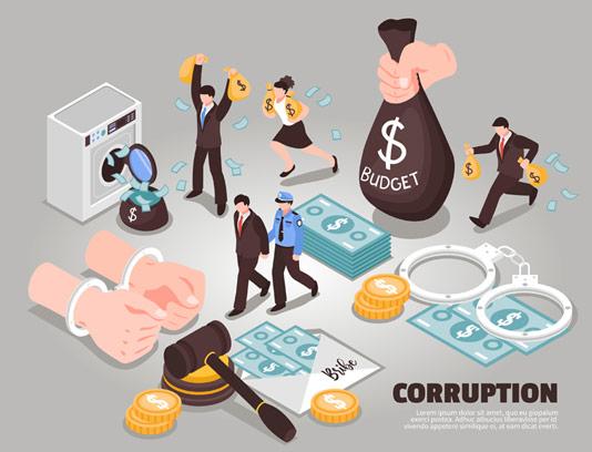 وکتور فساد مالی و دزدی