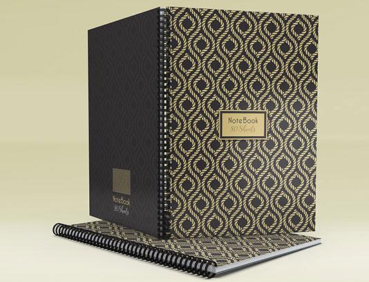 طرح جلد دفتر طلایی رنگ لایه باز