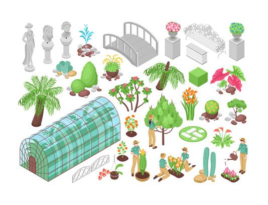 وکتور گلخانه و پرورش گیاه