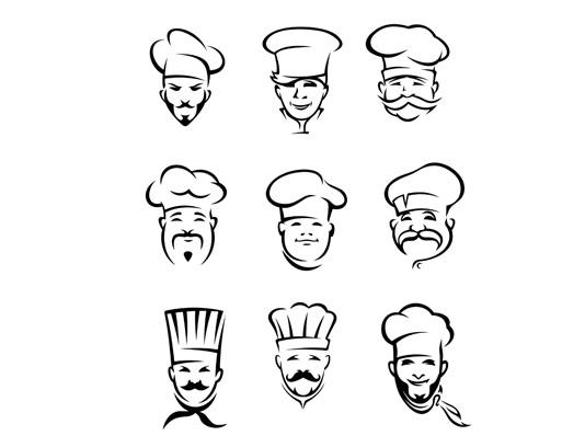 وکتور لوگوی سرآشپز حرفه ای
