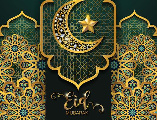 پس زمینه رمضان با المان ماه و ستاره