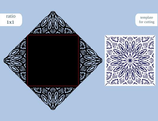 وکتور کارت عروسی مربع