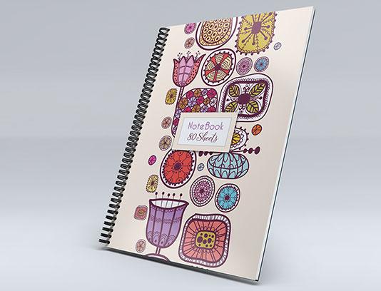 طرح جلد دفتر گل های فانتزی
