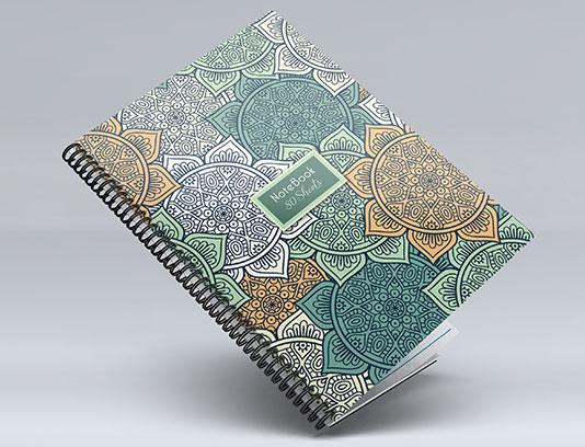 طرح جلد دفتر لایه باز سنتی
