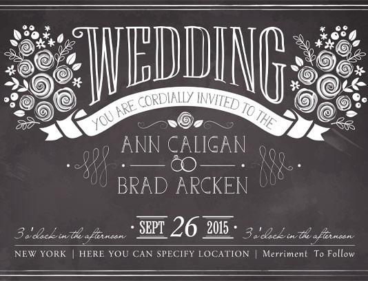 وکتور کارت عروسی سیاه و سفید خلاقانه