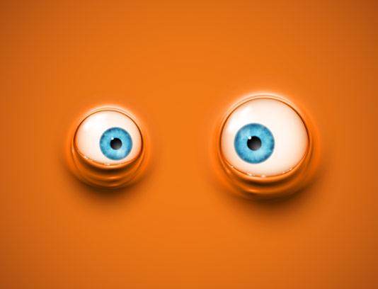 وکتور بکگراند انیمیشنی دو چشم آبی