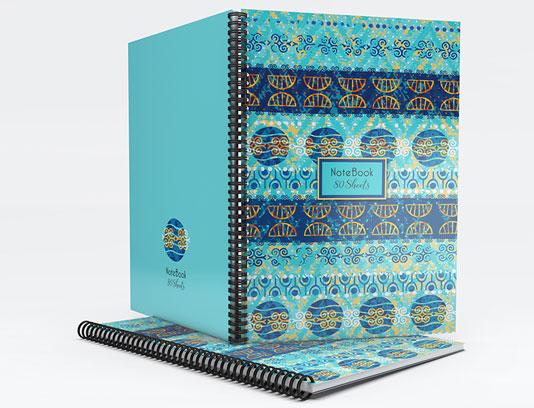 جلد دفتر آبی رنگ فانتزی لایه باز
