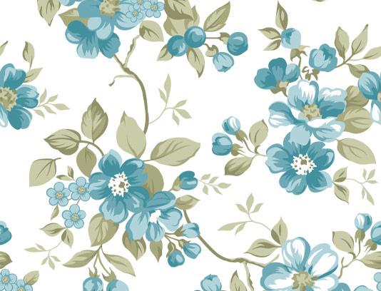 وکتور بکگراند گل های آبی رنگ