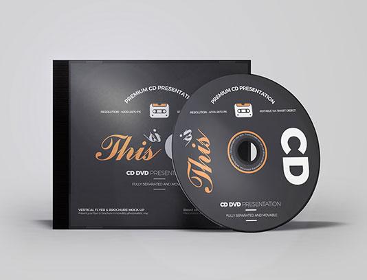 موکاپ لیبل سی دی لایه باز