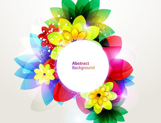 وکتور بکگراند گل های رنگی