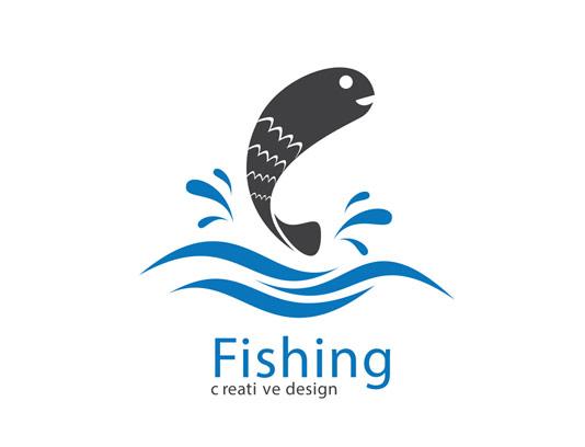 وکتور لوگو ماهی خلاقانه