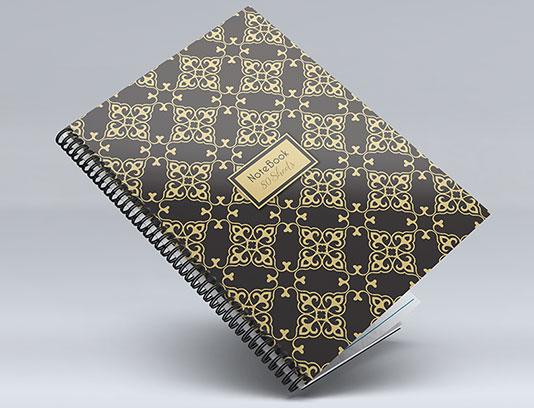 جلد دفتر طلایی رنگ لایه باز
