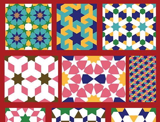 وکتور انواع پترن های اسلامی