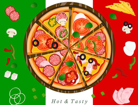 وکتور پیتزا ایتالیایی با کیفیت عالی