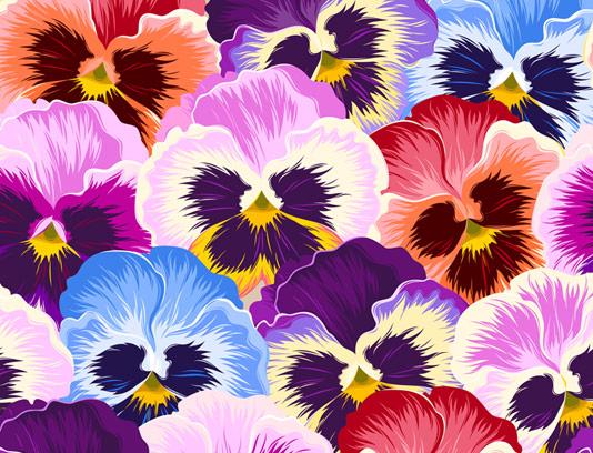 وکتور پس زمینه گل های بنفشه