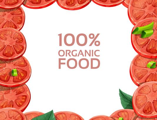وکتور کادر گوجه فرنگی قرمز