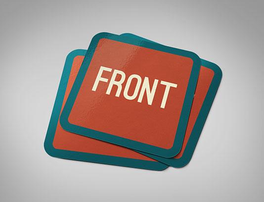 موکاپ کارت ویزیت مربع لایه باز