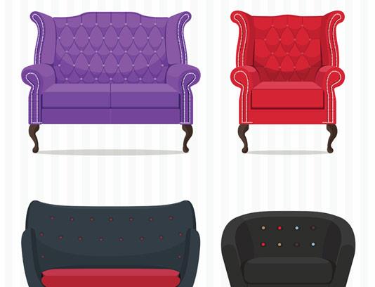 وکتور مبل و صندلی راحتی