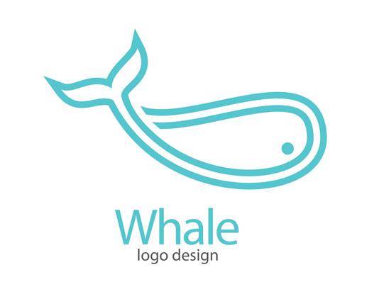 وکتور لوگو نهنگ آبی