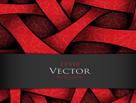 وکتور پس زمینه انتزاعی قرمز رنگ