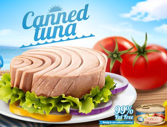 طرح تبلیغاتی کنسرو تن ماهی