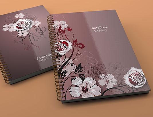 طرح جلد دفتر گل های کلاسیک