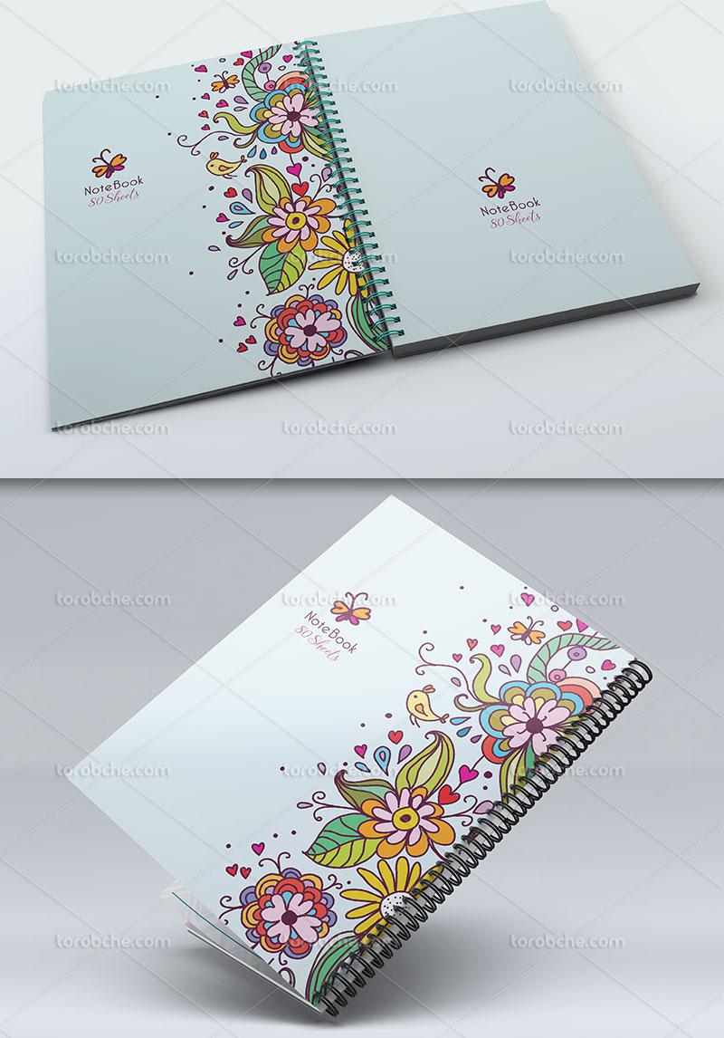 جلد دفتر گل و بوته فانتزی