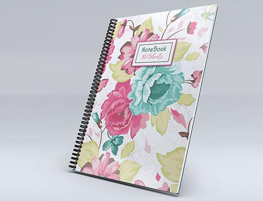 جلد دفتر طرح گل های فانتزی