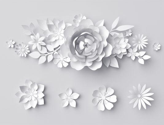 عکس گل های کاغذی سه بعدی