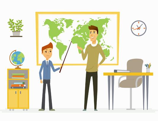 وکتور طرح آموزش جغرافیا