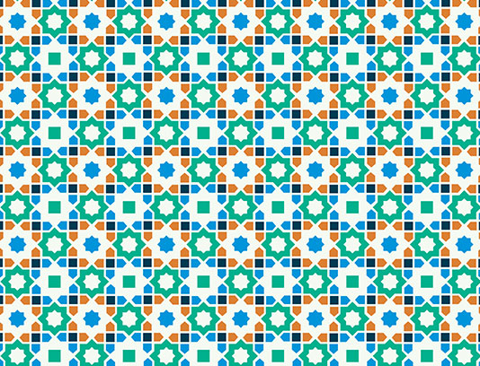 طرح کاشی کاری اسلامی