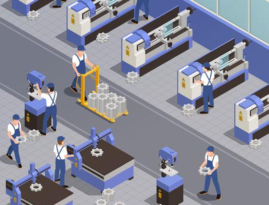 وکتور ایزومتریک ماشین آلات صنعتی