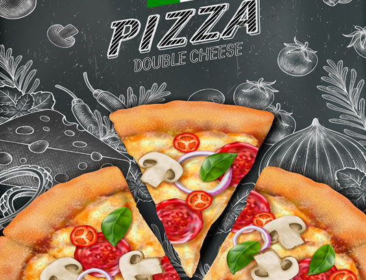 وکتور پس زمینه پیتزا ایتالیایی
