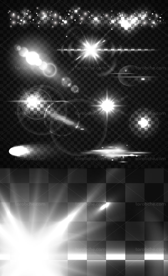 وکتور افکت نور نقطه ای