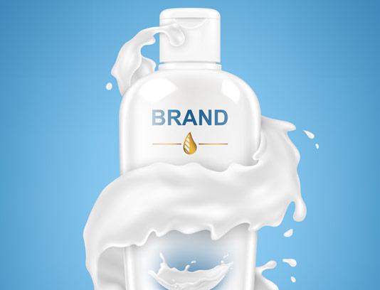 طرح تبلیغاتی لوسیون شیر