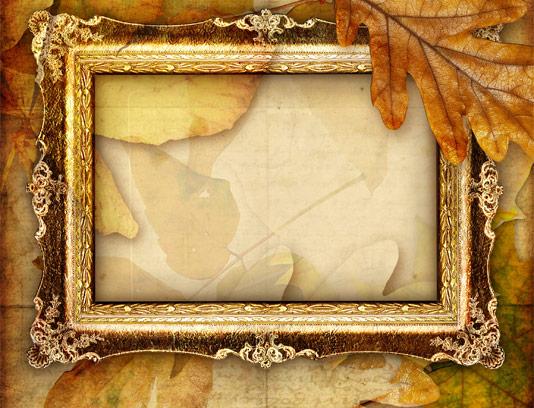 قاب عکس پاییزی قدیمی