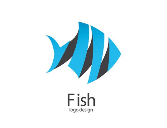 وکتور لوگو ماهی اوریگامی