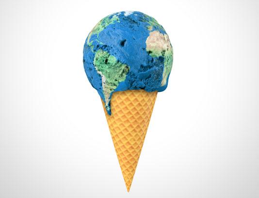 عکس بستنی قیفی طرح زمین