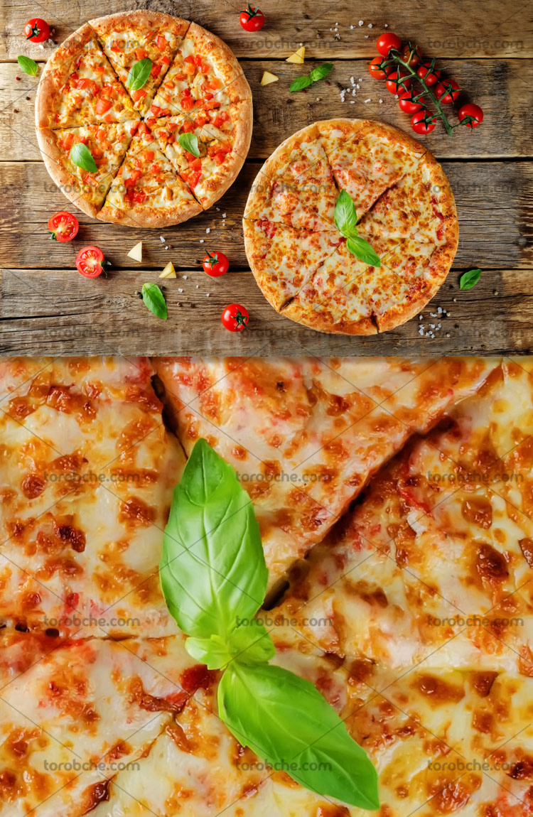 عکس پیتزا با کیفیت عالی