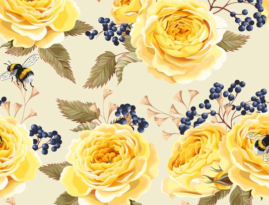 طرح بکگراند گلدار زرد