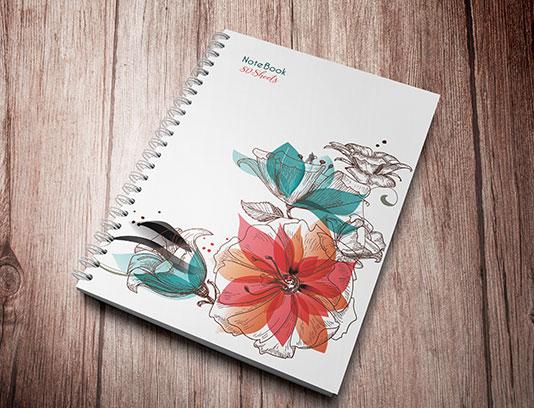 جلد دفتر گل فانتزی